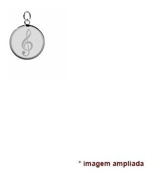 colar pingente e corrente de prata 925 clave de sol, música