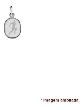 colar pingente e corrente de prata 925 corredor, maratona