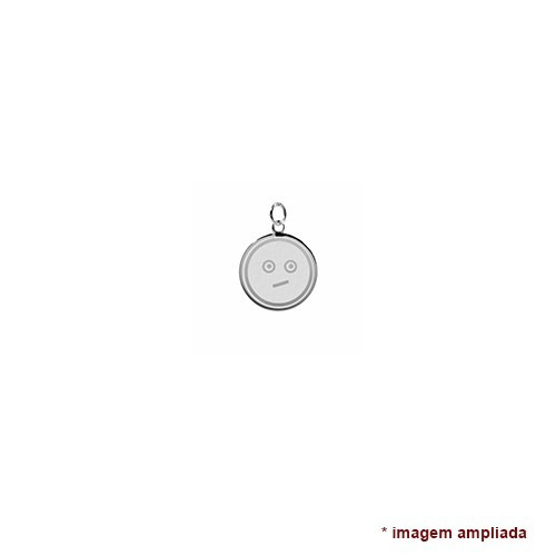 colar pingente e corrente de prata 925 emoticon