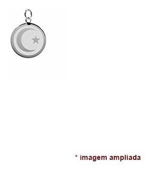 colar pingente e corrente de prata 925 lua e estrela