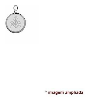 colar pingente e corrente de prata 925 símbolo maçonaria