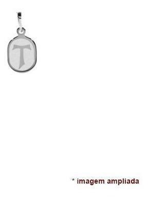 colar pingente e corrente de prata 925 tau de são francisco