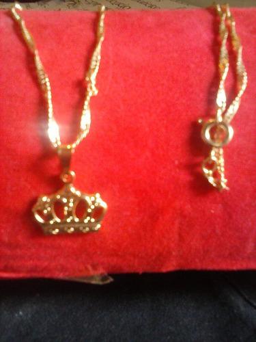 colar+pingente feminino folheada em ouro