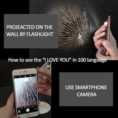 colar pingente projetor te amo i love you 100 idioma +brinde