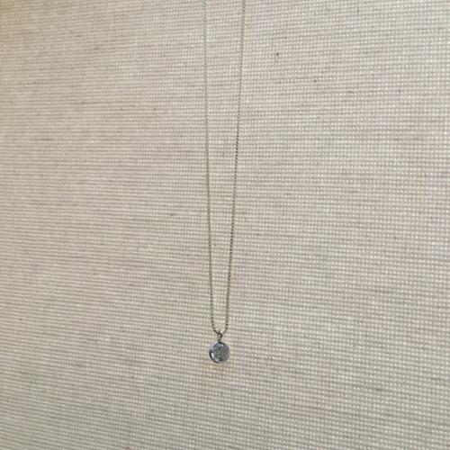 colar ponto de luz em prata 925 com zircônia