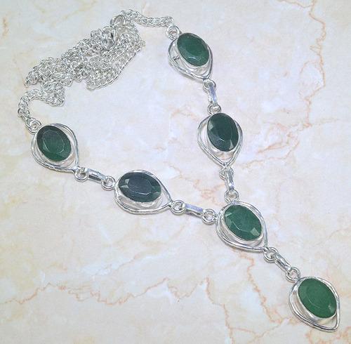 colar prata 925 com esmeraldas naturais!