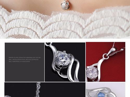 colar prata femenino925