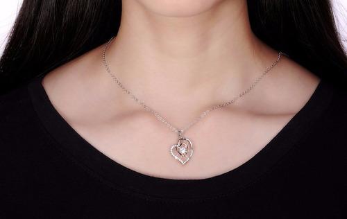 colar prata feminino