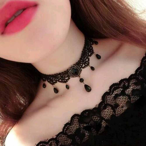 colar preto velvet choker necklace/ estilo gargantilha