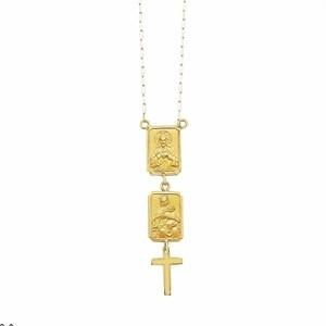 colar religioso escapulário ouro 18k unissex médio k330