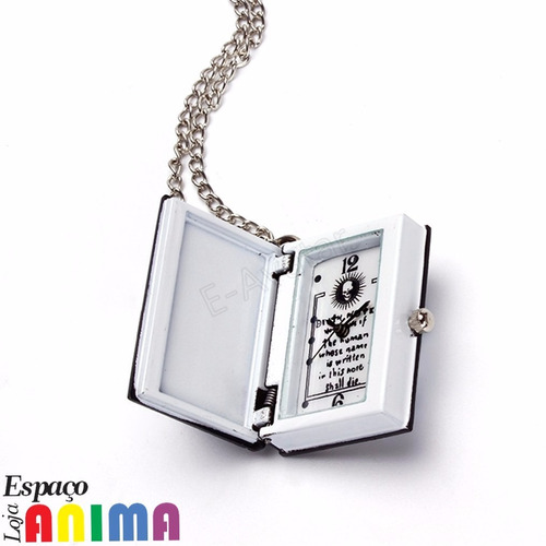 colar relógio death note anime light yagami caderno da morte