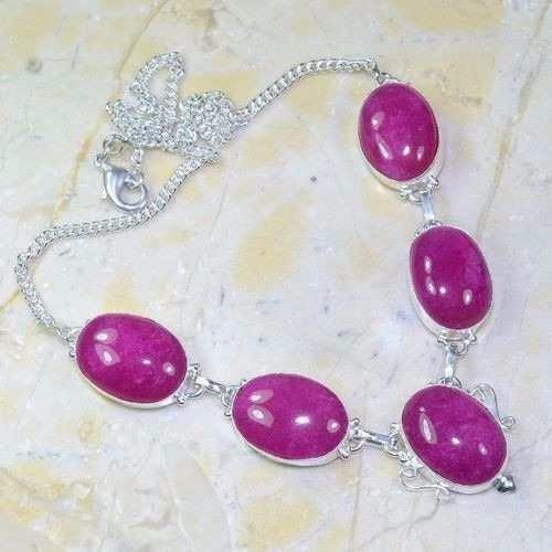 colar rubi rosa  indiano