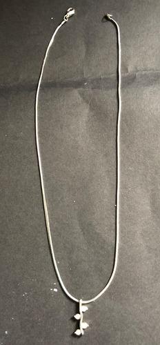 colar semi jóia com pingente de pontos c/ cristais swarowski