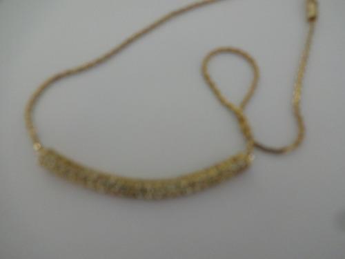colar semijoia dourado com strass