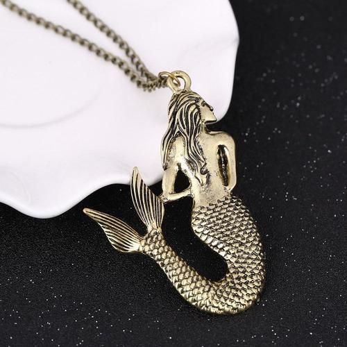 colar sereia (dourado cobreado) vintage