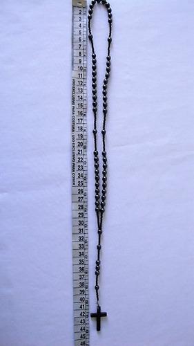 colar terço rosário masculino 44cm bolinhas 6mm