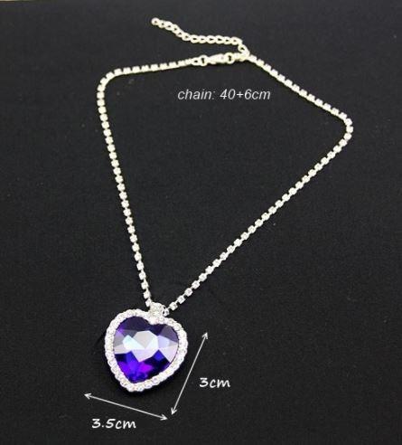 colar titanic acompanha brincos e pulseira coração do oceano