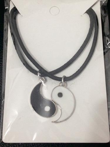 colar yin yang alma gêmea melhores amigos 2 colares resinado