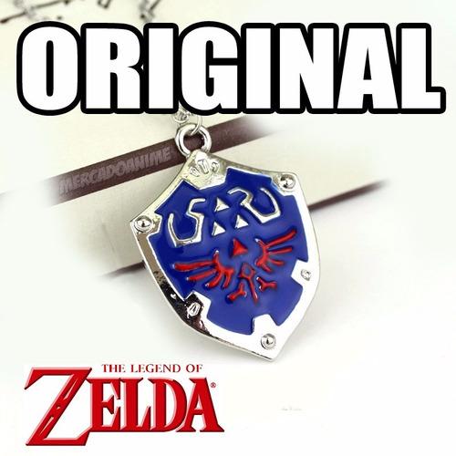colar zelda escudo ocarina of time hylian link cosp original