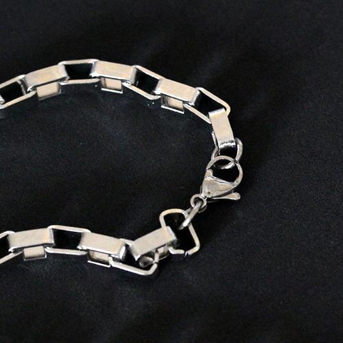 colaraco653 - colar de aço quadrado 75cm / 0.5cm