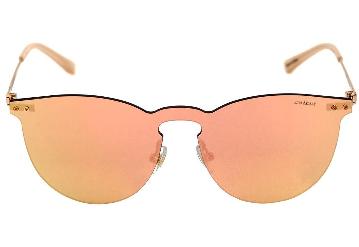 6ac28bf82 colcci c0076 - óculos de sol dourado e creme/ rosê espelhado. Carregando  zoom.
