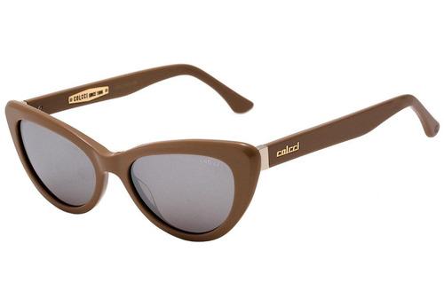 colcci c0127 - óculos de sol creme e dourado brilho/ prata e