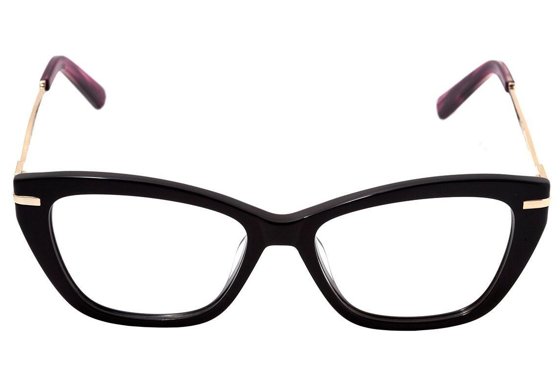 7342adfc8f Colcci C6089 - Óculos De Grau Preto Brilho Lente 5