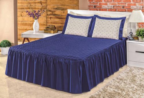 colcha beatriz bordada para cama padrão casal 5pç caqui