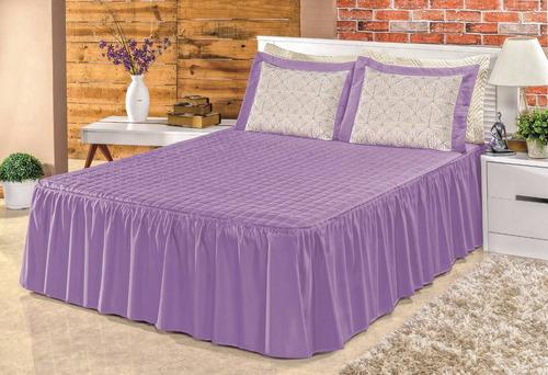 colcha beatriz bordada para cama padrão casal 5pç vermelha