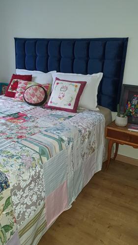 colcha casal patchwork retalhos de  tapeçaria nobre - varal