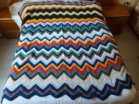 75ba31c9b Colcha Cubrecama Manta Tejida Crochet A Mano Liquido!!