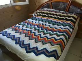 Triangulos Tejidos Crochet Colchas Y Cubrecamas 1 Plaza Y 12 En