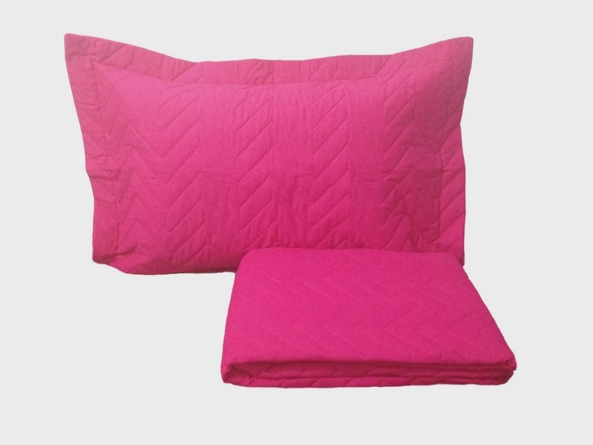 f2f1f7cadd colcha elasticada solteiro 2 peças microfibra - pink le. Carregando zoom.