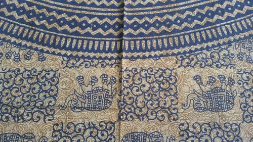 colcha indiana casal mandala central - importado da índia