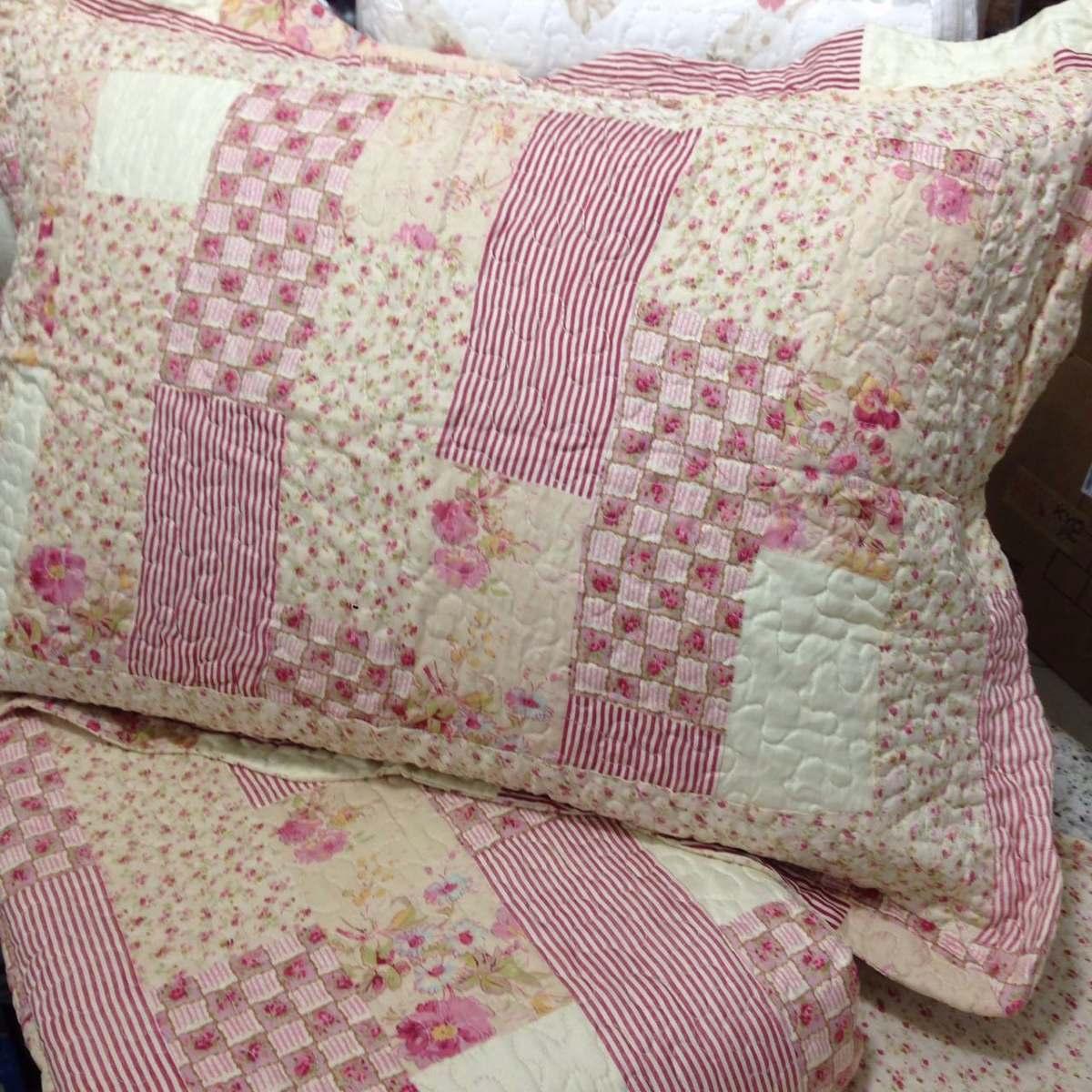 Colcha patchwork andreza queen microfibra matelada estampa 7 r 149 90 em mercado livre - Colcha patchwork ...