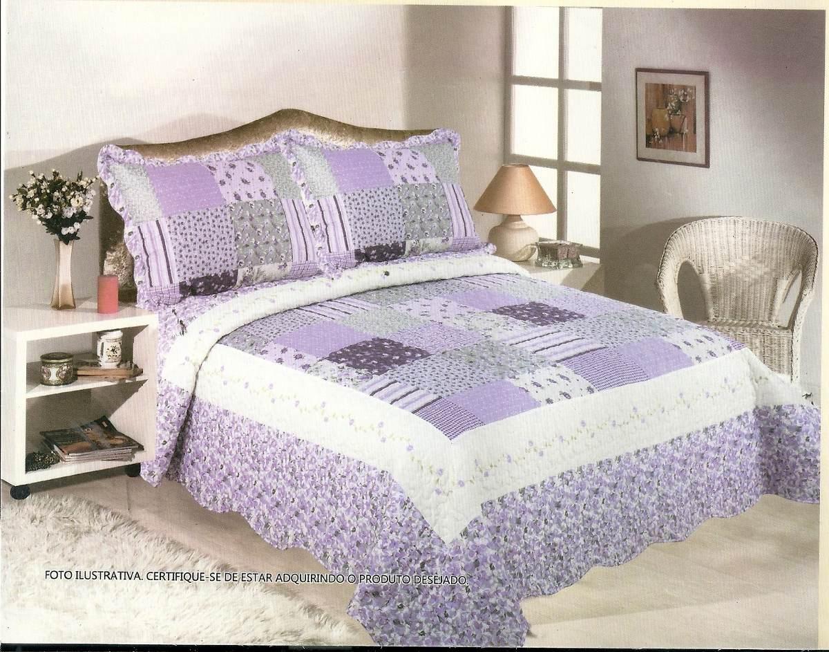 Colcha patchwork casal com 2porta travesseiros sultan oferta r 139 90 em mercado livre - Colcha patchwork ...