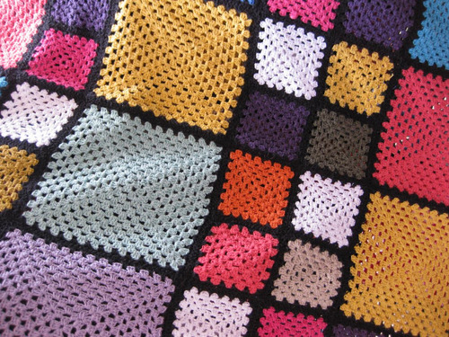 #colcha queen colorida em linha - croche feito à mão