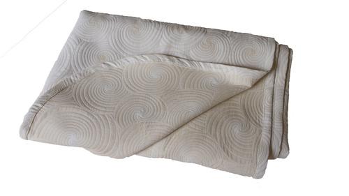colcha sobrecama queen con relieve espiral