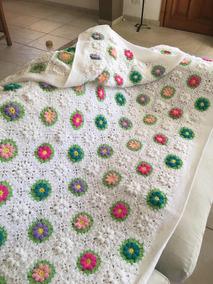 1951b3e94 Colcha Tejida A Mano Crochet!!!