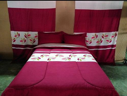 colchas reversibles con cortinas
