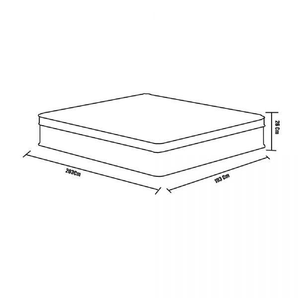 5ac9e7364 Colchão Box King Size Plumatex Miami Sealy