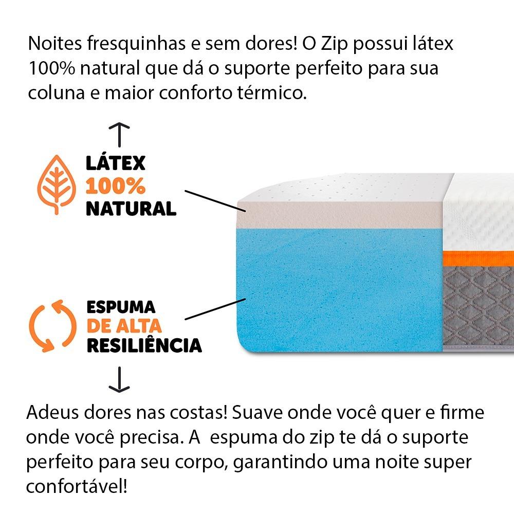 3fba0b5d9c6e Colchão Casal Molas Ensacadas Com Pillow De Látex Natural - R$ 3.299 ...