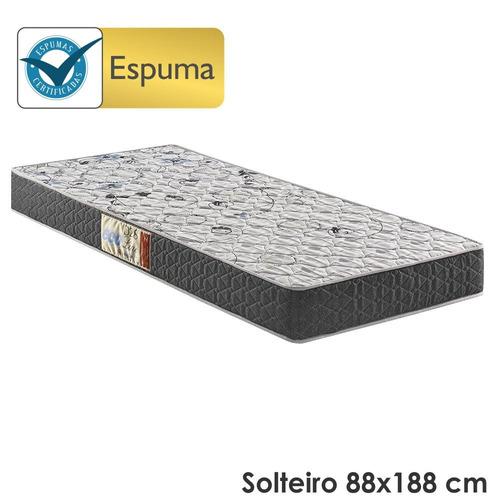 colchão de solteiro espuma d28 ecoline c/ sistema antiácaro