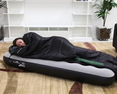 colchão inflável aveludado nautika fit solteiro