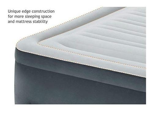 colchão inflável elevado intex comfort plush queen 220v