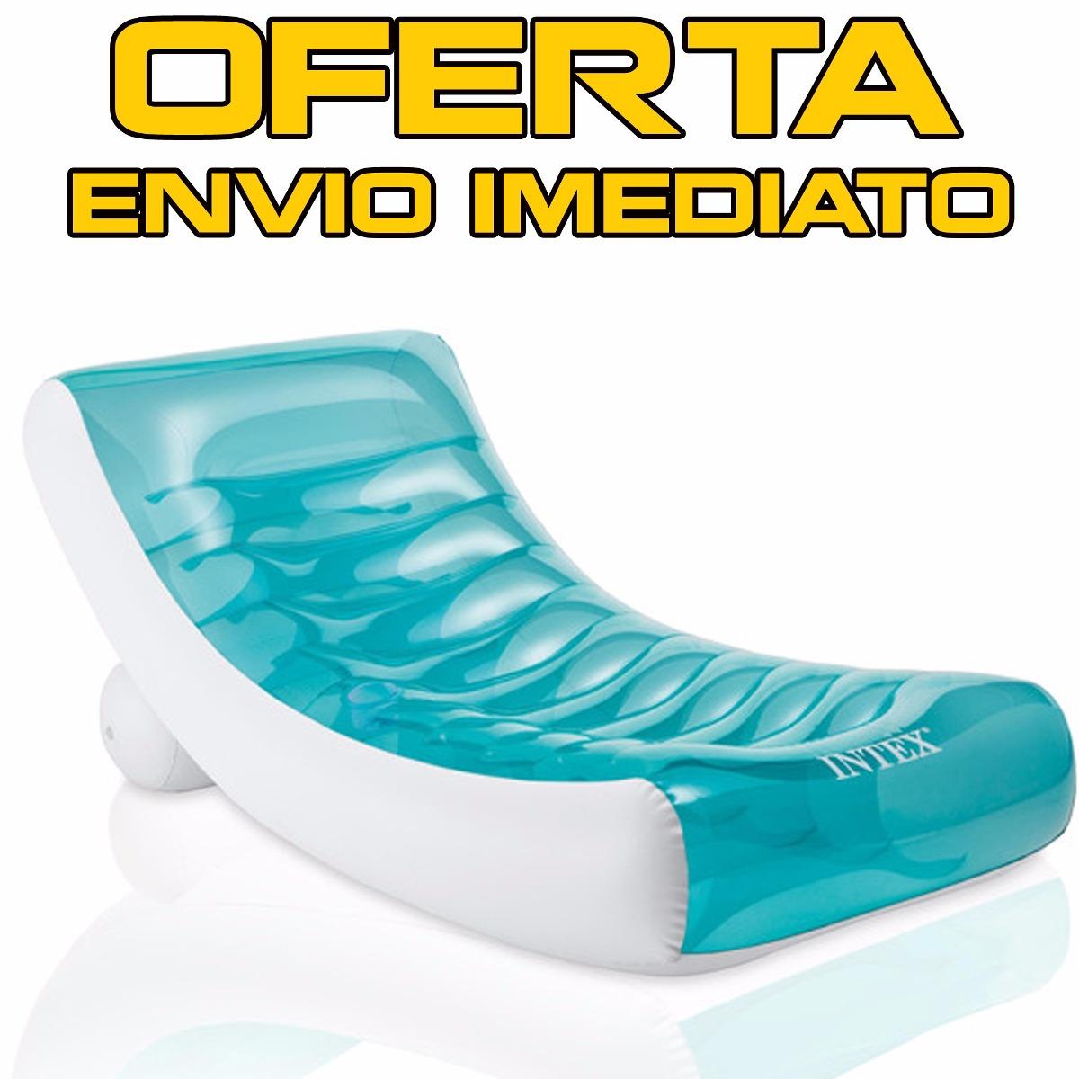 eaad49462 Colchão Inflável Piscina Ibiza Com Enconsto Intex Verão Bóia - R  169