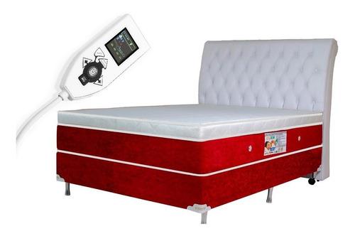 colchão magnético casal 30cm alt. massageador e bio quântico