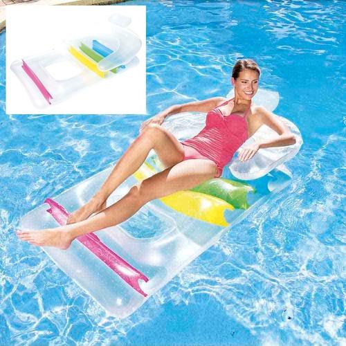 colchão poltrona boia inflável fashion lounge piscina - mor