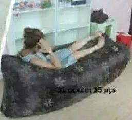 colchão saco de dormir inflável sofá preguiçoso promoção