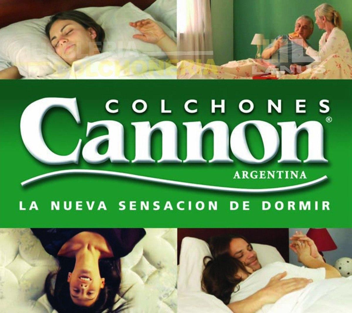Colchon 1 Plaza Cannon Princess Espuma 24 Kg Envios Grat S  ~ Colchones Buenos Para La Espalda